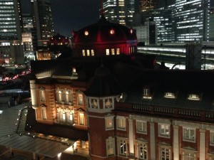 東京ステーションホテル開業100周年記念ライトアップ